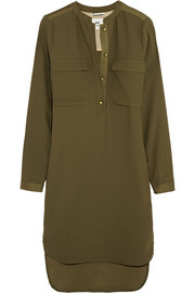 Alpha crepe shirt dress