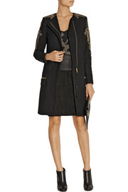 Night Vibrant embellished wool-blend coat