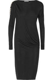 Night Praise embellished jersey dress
