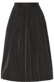 Night Flicker taffeta midi skirt