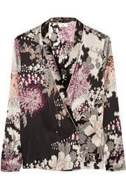 Night Flower printed satin jacket