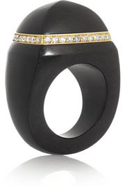Finds + Catherine Prevost 18-karat gold, ebony and diamond ring