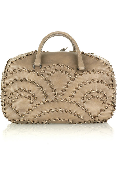 Bottega Veneta - San Marco Karung leather fashion bag from net-a-porter.com