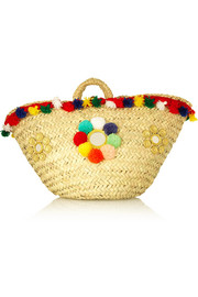 Finds + Muzungu Sisters Sicilian embellished straw basket