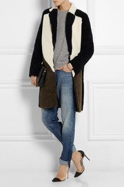 J.Crew Collection color-block shearling coat