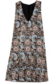 Collection metallic floral-jacquard dress