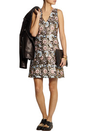J.Crew Collection metallic floral-jacquard dress