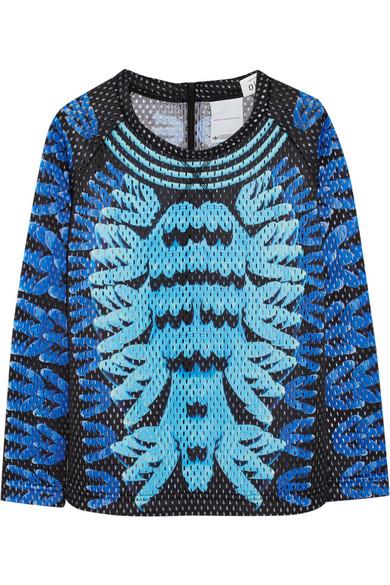 268d448ec1f8 adidas Originals. + Mary Katrantzou Monster Marathon mesh sweatshirt