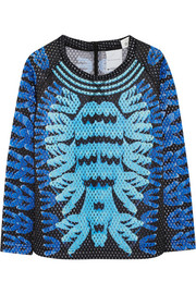 + Mary Katrantzou Monster Marathon mesh sweatshirt