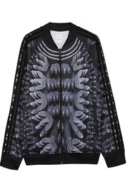 + Mary Katrantzou Monster Marathon twill track jacket
