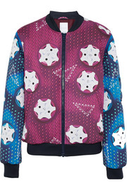 adidas Originals + Mary Katrantzou padded neoprene bomber jacket