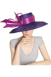 Philip Treacy Sinamay and buntal downturn-brimmed hat