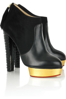 Charlotte Olympia Ziggy leather ankle boots