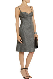 Calvin Klein Collection Banka metallic crepe dress