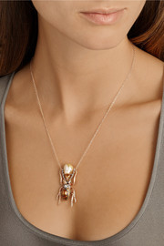 Daniela Villegas Thessalorike 18-karat rose gold multi-stone necklace
