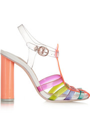 Sophia Webster Rosa vinyl and leather sandals