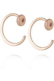 Melissa Joy Manning 14-karat rose gold ruby earrings