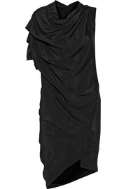Rill draped satin-crepe dress