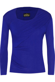 Cherub ruched stretch-jersey top
