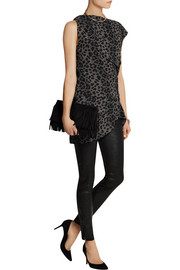Vivienne Westwood Anglomania Taxa leopard-print crepe top