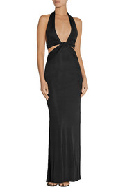 Agent Provocateur Martina cutout silk-jersey dress