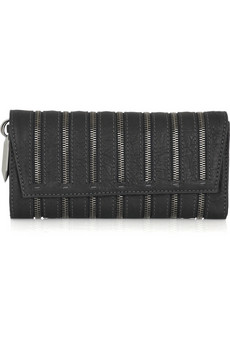Donna Karan Zipped leather shoulder clutch