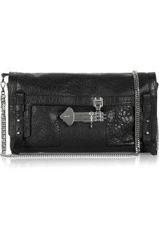 Emanuel Ungaro Stamped leather clutch