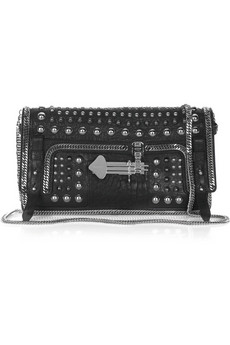 Emanuel Ungaro Studded leather clutch