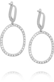 Ileana Makri Mini Again 18-karat white gold diamond earrings