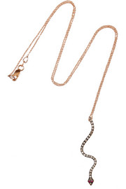18-karat rose gold, diamond and ruby necklace