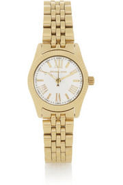 Michael Kors Mini Lexington gold-tone stainless steel watch