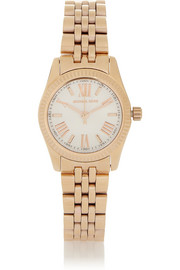Michael Kors Lexington mini rose gold-tone stainless steel watch
