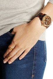 Michael Kors Ritz gold-tone and acetate watch