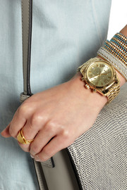 Michael Kors Lexington gold-tone chronograph watch