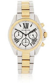 Michael Kors Bradshaw gold and silver-tone stainless steel chronograph watch