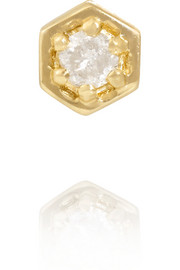 Finds + Zoe and Morgan Fine Jewelry 9-karat gold diamond earring