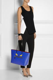Fendi Buggies appliquéd textured-leather tote
