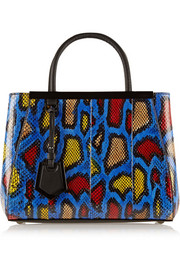 2Jours small printed watersnake shopper
