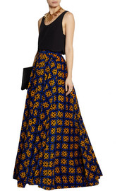 Finds + Talbot Runhof printed stretch-corduroy maxi skirt
