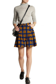 Finds + Talbot Runhof printed stretch-corduroy skirt shorts