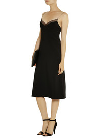Calvin Klein Collection Karlyn chiffon-trimmed stretch-crepe dress