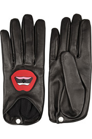 + YAZBUKEY x Causse Gantier Plexiglas®-embellished leather gloves