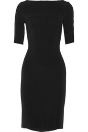 Paneled stretch-cady dress