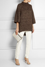 Oversized metallic knitted sweater