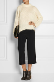 Victor Alfaro Cropped stretch-cady straight-leg pants