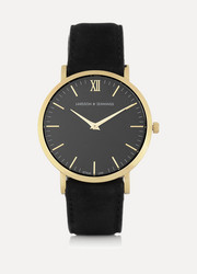 Larsson & Jennings Läder gold-plated watch