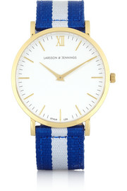 Larsson & Jennings Vasa woven and gold-plated watch