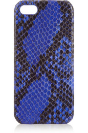 The Case Factory Snake-effect leather iPhone case