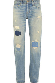 + Point Sur Denim X-Rocker distressed boyfriend jeans