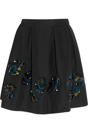 J.Crew Collection embellished cotton-blend faille mini skirt